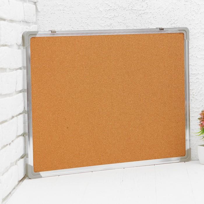 Доска двусторонняя, пробковая и магнитно-маркерная, 60 × 45 см