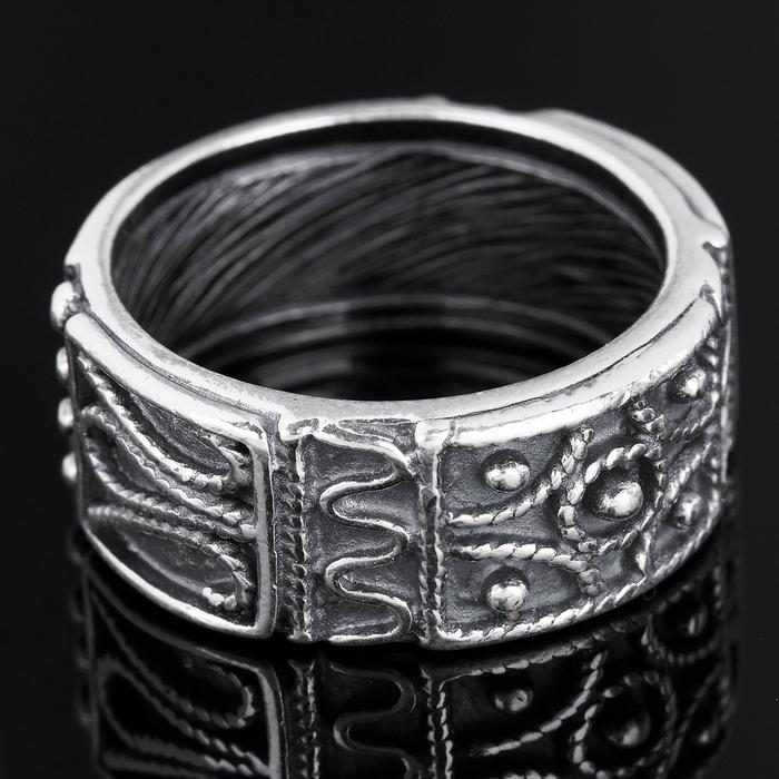 Кольцо ''Владелина'', размер 19, цвет чернёного серебра 3664248