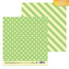 Бумага для скрапбукинга «Звездочки, зеленая», 15.5 × 15.5 см, 180 г/м
