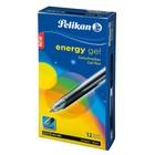 Ручка гелевая автомат Pelikan Energy Gel G21 рез.упор, M, чёрный 921445