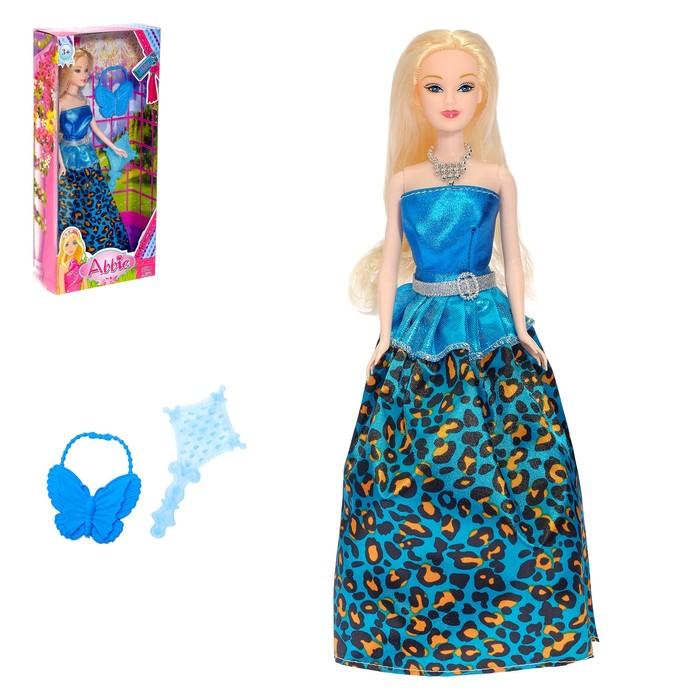 """Кукла модель """"Эбби"""" в платье, МИКС"""