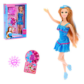 """Doll model jointed """"Emma"""" with accessories and stickers for manicure, MIX"""
