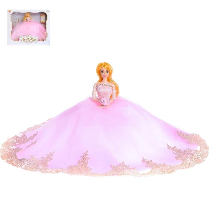 Кукла модель шарнирная «Злата» в свадебном платье с аксессуарами