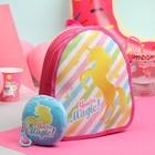 Рюкзак детский, отдел на молнии, с кошельком, цвет розовый