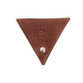 Футляр для монет на кнопке, цвет коричневый в Донецке