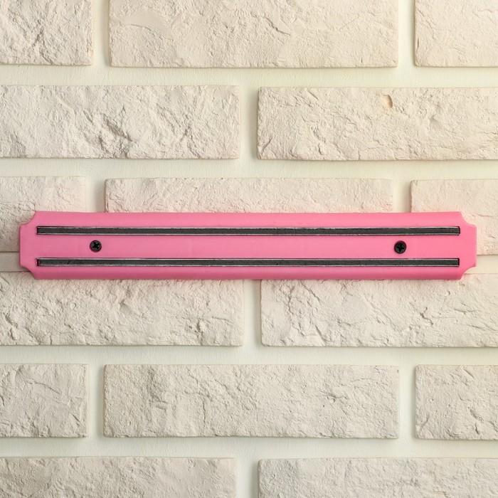 Держатель для ножей магнитный 33 см цвет розовый