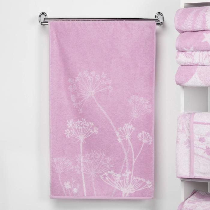 """Полотенце махровое """"Этель"""" Зонтики, цвет лаванда, 70х130 см, 100% хл, 420 г/м²"""