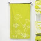 """Полотенце махровое """"Этель"""" Зонтики, цвет лайм, 70х130 см, 100% хл, 420 г/м²"""