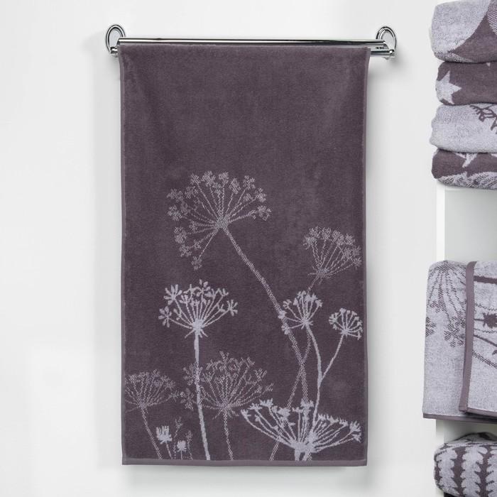 """Полотенце махровое """"Этель"""" Зонтики, цвет дымка, 70х130 см, 100% хл, 420 г/м²"""