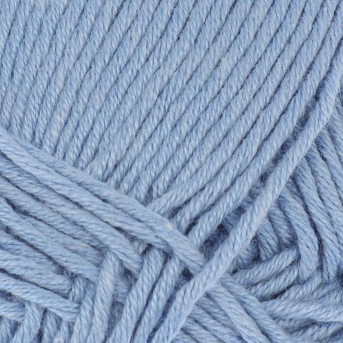 """Пряжа """"Лаконичная"""" 50% хлопок, 50% акрил 212м/100гр (05 голубой) - фото 702116394"""