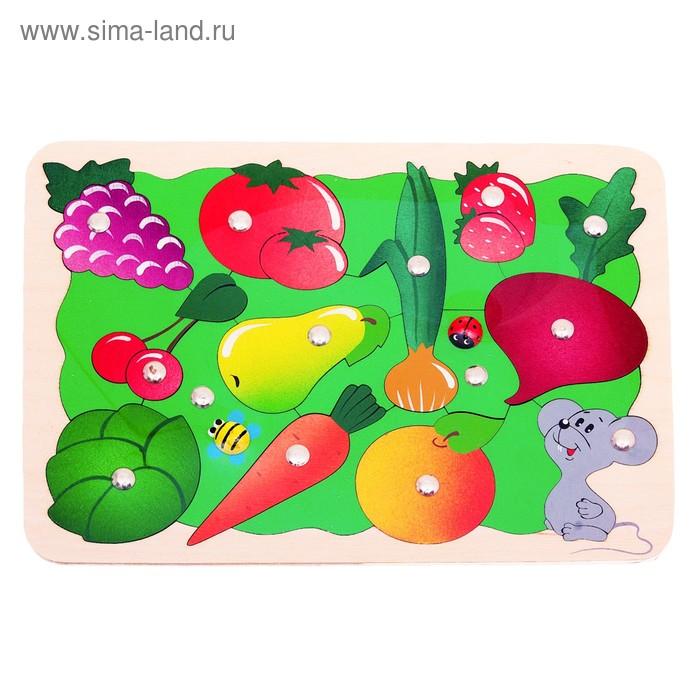 """Магнитная мозаика """"Во саду ли, в огороде"""", 26 деталей + 2 удочки"""