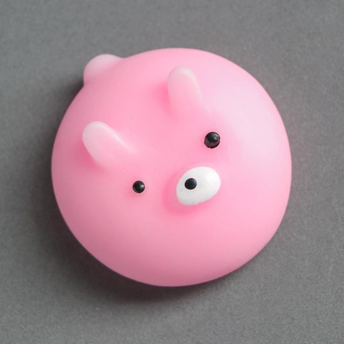 "Мялка антистресс ""Зайка"", цвет розовый"