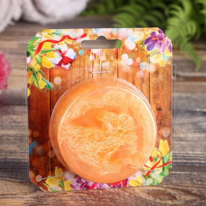 """Мыло с мочалкой из люфы """"Тропический апельсин"""", """"Добропаровъ"""", 100 гр"""
