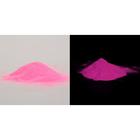 Пыль для декора, светится в темноте, 10 г, цвет ярко-розовый