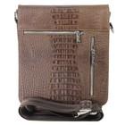 Сумка муж. планшет, размер 25х30х7 см, цвет коричневый кайман ва448-10-4401