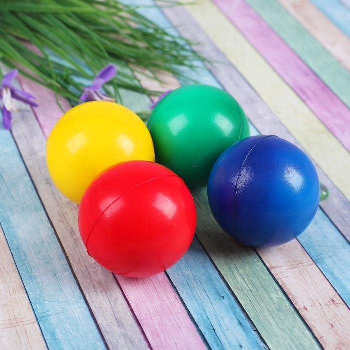 Мяч мягкий «Однотонный», 6,3 см, цвета МИКС