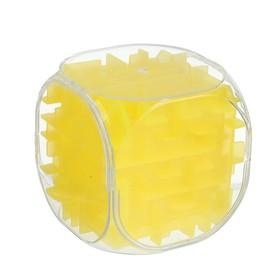 Головоломка 'Кубик', цвет желтый Ош