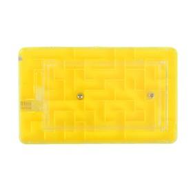 Головоломка 'Лабиринт', цвет жёлтый Ош