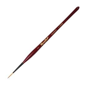 Кисть Лайнер Синтетика Roubloff Хобби №1, короткая ручка покрыта лаком, красная