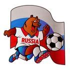 """Наклейка на авто """"Медведь с мячом"""" 220х210"""