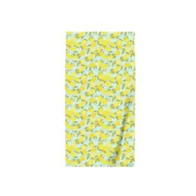 "Полотенце пляжное ""Лимоны"", размер 110х150 см, вафля"