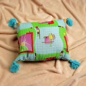 Подушка с лавандой и стружкой можжевельника, 40х30 см, микс Ош