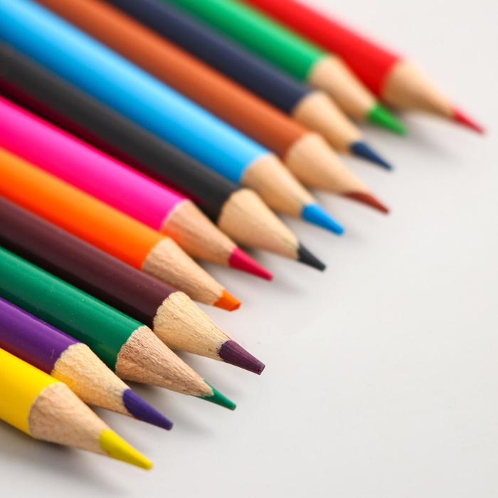 Карандаши цветные 12 цветов «Гадкий Я»
