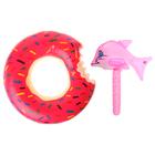 """Надувные игрушки """"Весёлое настроение"""", набор: спасательный круг, надувная рыбка"""