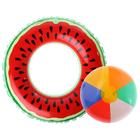 """Надувные игрушки """"Живи вкусом"""", набор: спасательный круг, мяч"""