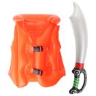 """Надувные игрушки """"На абордаж!"""", набор: спасательный жилет, надувная сабля"""