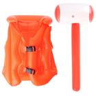 """Надувные игрушки """"Лучшее лето"""", набор: спасательный жилет, надувной молоток"""