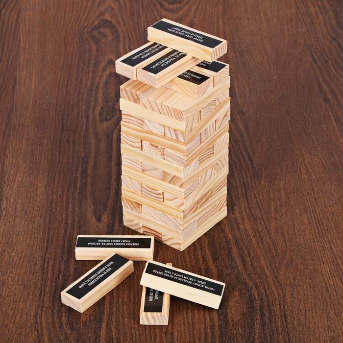 Падающая башня «Злая» с фантами, 48 брусков