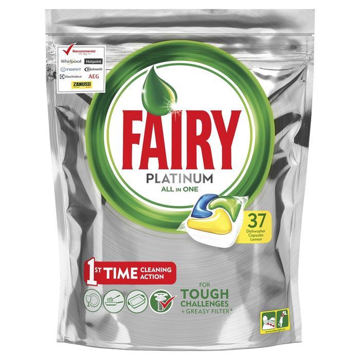 """Капсулы для посудомоечной машины Fairy """"Лимон"""", 37 шт"""
