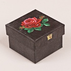 Коробочка подарочная «Вышивка», 5 х 5 х 4 см