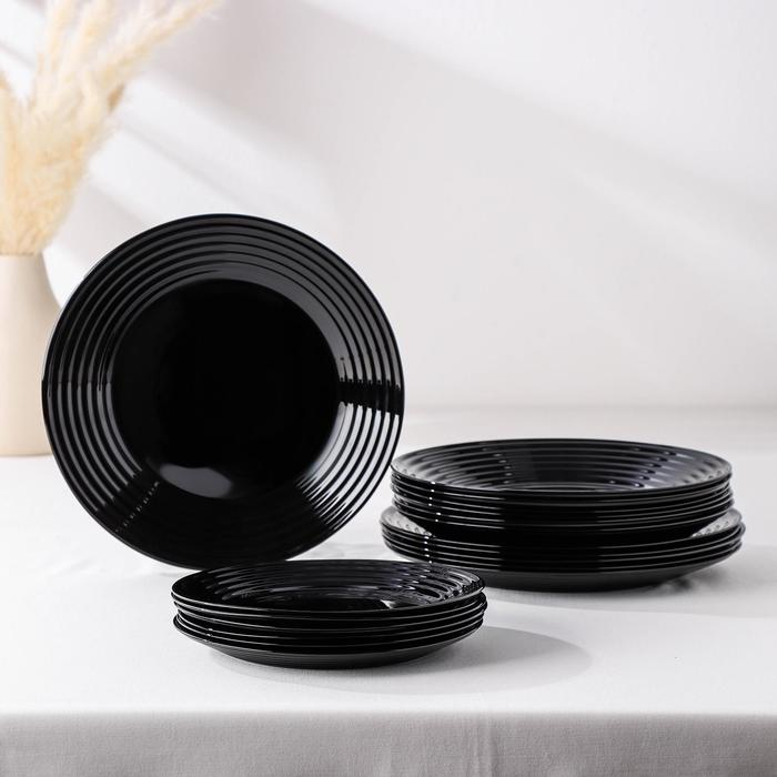 Сервиз столовый Harena Black, 18 предметов