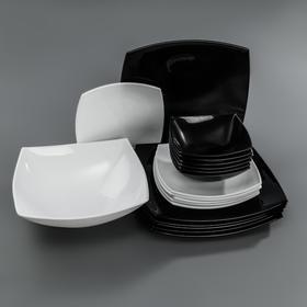 Сервиз столовый Quadrato Black&White, 19 предметов