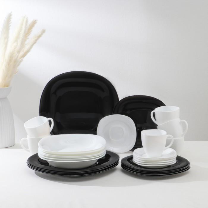 Сервиз столовый Carine White&Black, 30 предметов