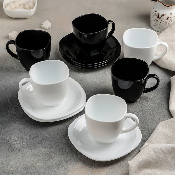 Сервиз чайный Carine, 12 предметов: 6 чашек 220 мл, 6 блюдец
