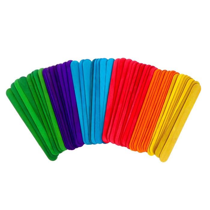 Счётные палочки большие цветные, набор 50 шт.