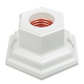 Патрон декоративный E27, шестигранник, 220 В