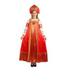 """Русский народный костюм """"Любавушка"""", платье, кокошник, атлас, р-р 46, рост 170 см"""
