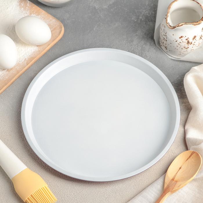 Форма для пиццы «Флёри», 24×1 см, керамическое покрытие - фото 308043278