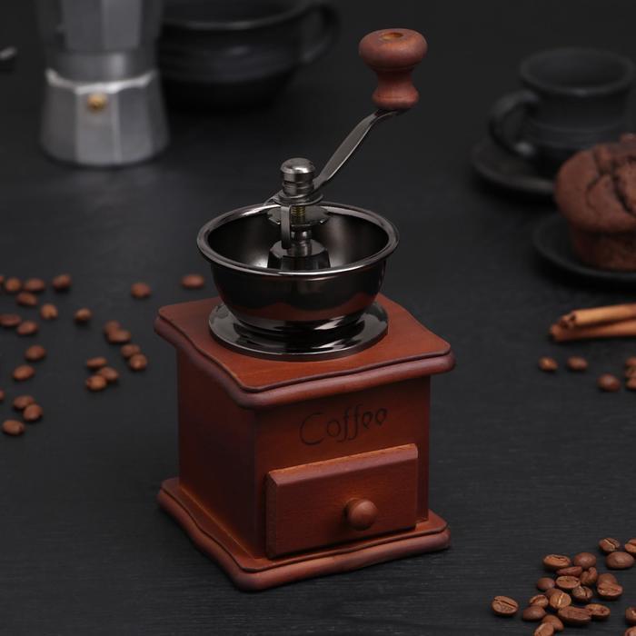 """Кофемолка с ручкой """"Темное дерево"""""""