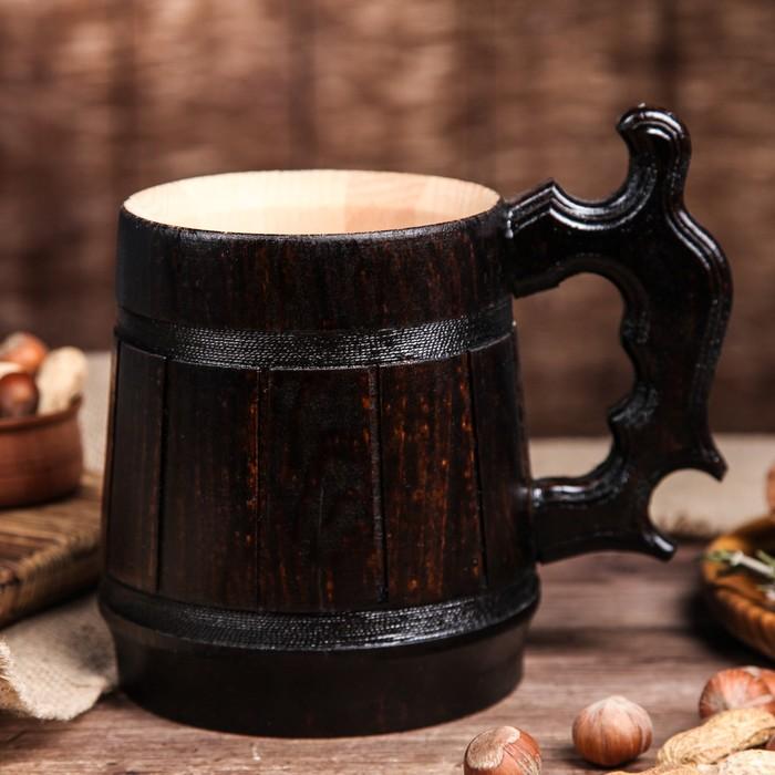"""Кружка пивная деревянная """"Келлербир"""", 0,5 л"""
