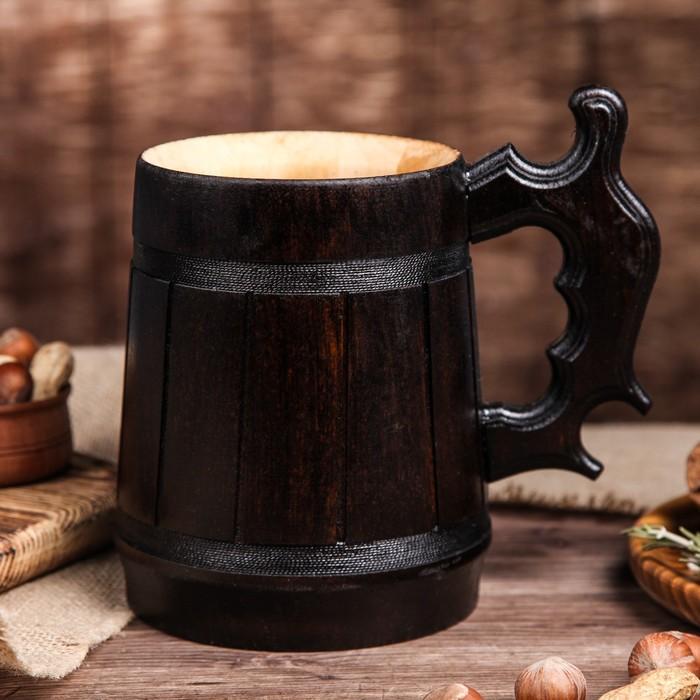 """Кружка пивная деревянная """"Келлербир"""", 0,8 л"""