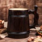 """Кружка для пива, деревянная """"Ретро"""", 0,8 л"""
