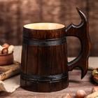 """Кружка пивная деревянная """"Мюнкер"""", темная, 0,5 л"""