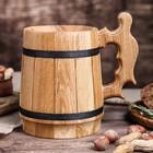 """Кружка пивная деревянная """"Вайсбир"""", 0,8 л"""