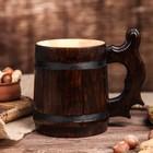 """Кружка для пива, деревянная """"Ретро"""", 0,3 л"""