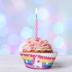 """Набор для выпекания кексов """"С Днем рождения""""единорог, набор 24 формочки"""